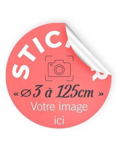 Stickers personnalisables Ronds